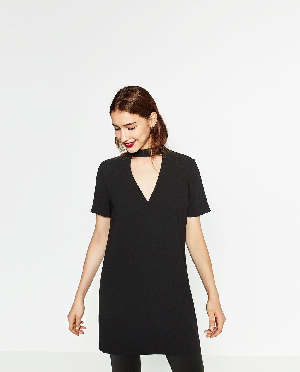 Zara kleid mini schwarz