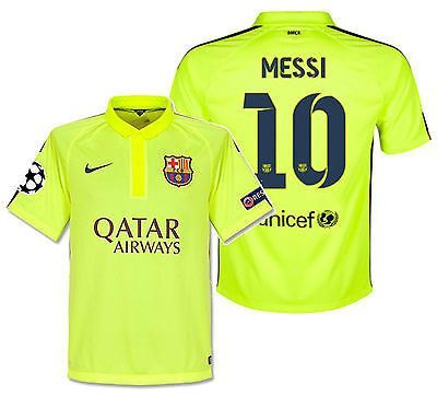 NIKE LIONEL MESSI FC BARCELONA UEFA CHAMPIONS LEAGUE THIRD JERSEY 2014 15 37f4655819bc6