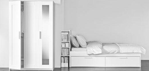 IKEA Kleiderschränke wie z. B. BRIMNES Kleiderschrank 3-türig, weiß ...