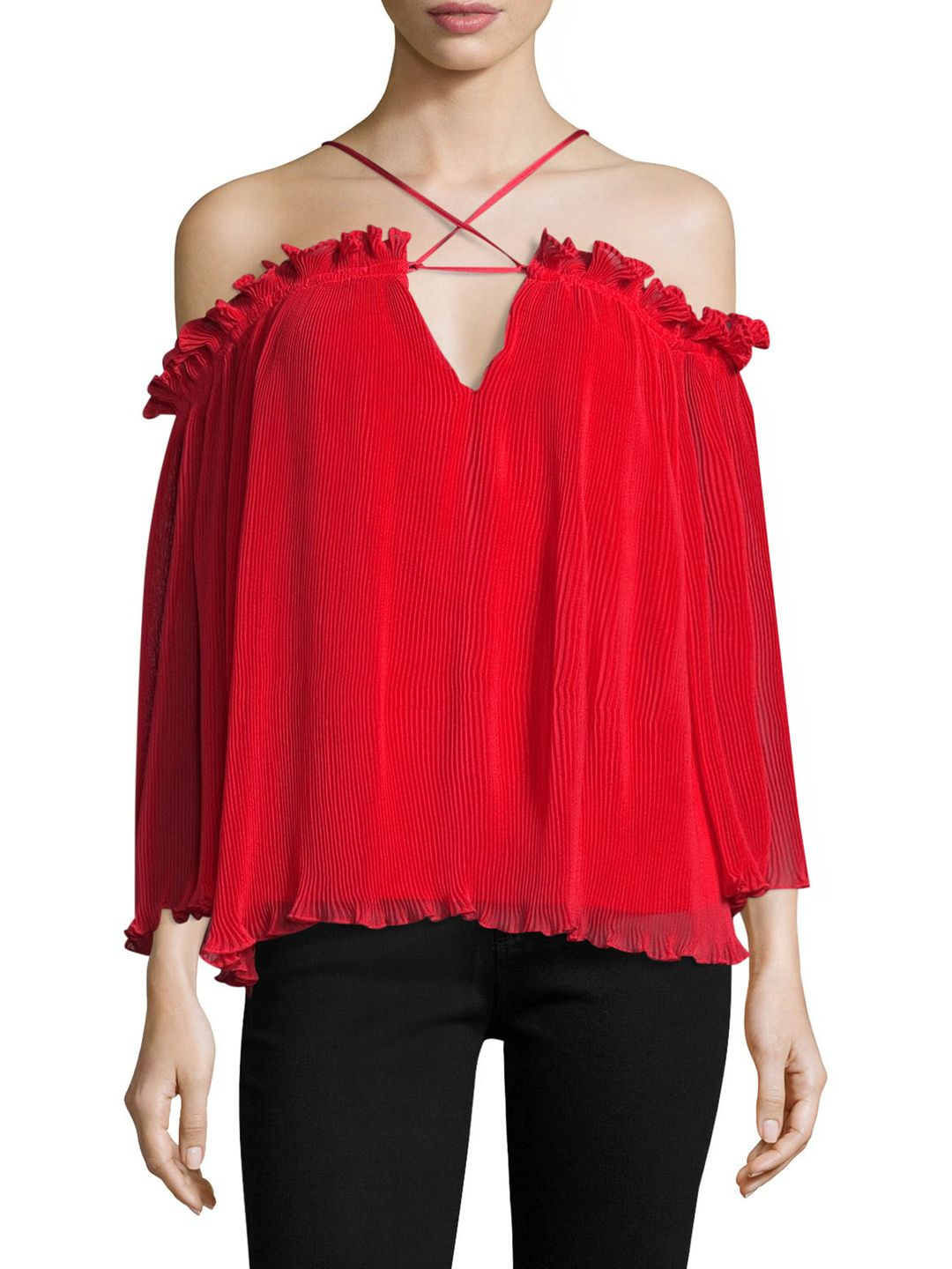 What Do You Mean Elasticized Off The Shoulder Top In Red Fashion Clothes Women Womens Fashion Edgy Edgy Fashion