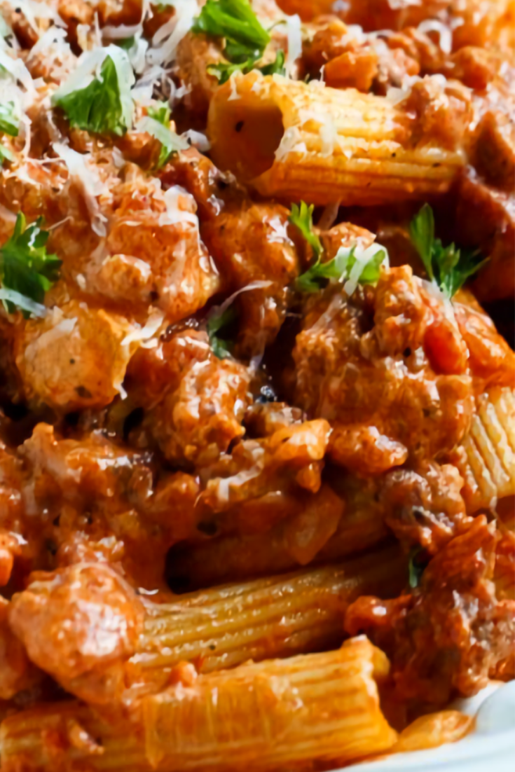 Italian Sausage Rigatoni with Spicy Cream Sauce images