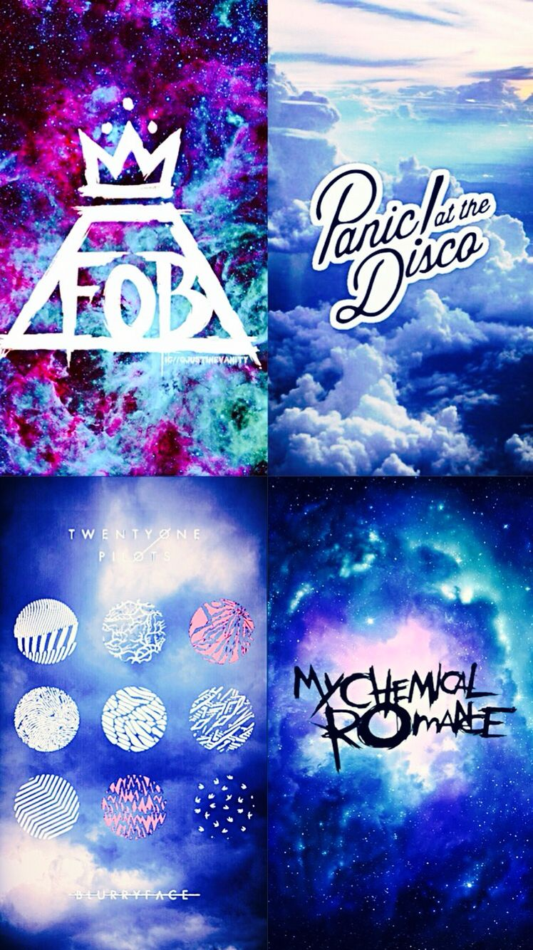 Fall Out Boy Logo Iphone Wallpaper Fall Out Boy Panic At The Disco Twenty One Pilots Amp My