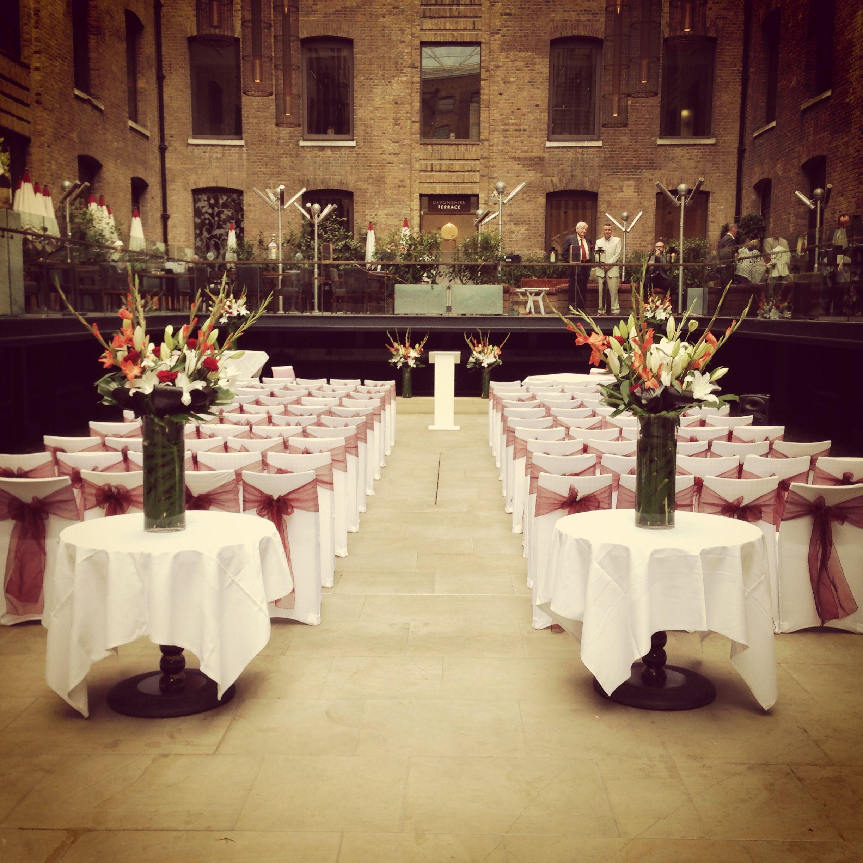 Wedding Ceremony At Devonshire Terrace, City Of London