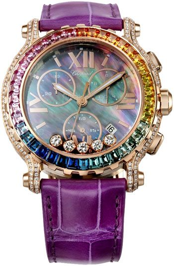 a9202d548e8 Pocket Watch · CHOPARD - Happy Sport Round Special Edition Rainbow Ladies -  42mm - 18k Rose Gold case