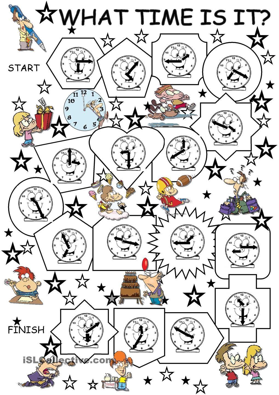 What time is it? | Teaching KIDS | ESL | Pinterest | Mathe uhr ...
