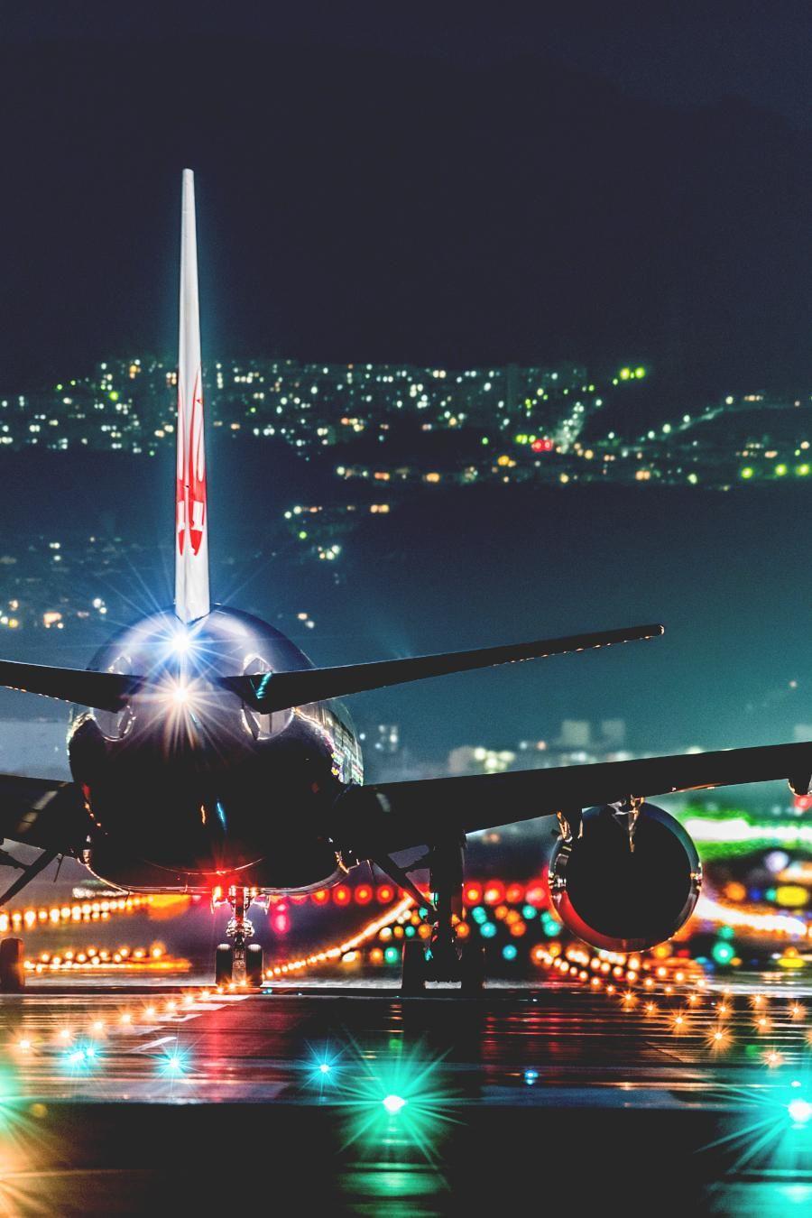 Flight Night Airport Airstrip Lights Boeing Airbus Jpg 900 1350