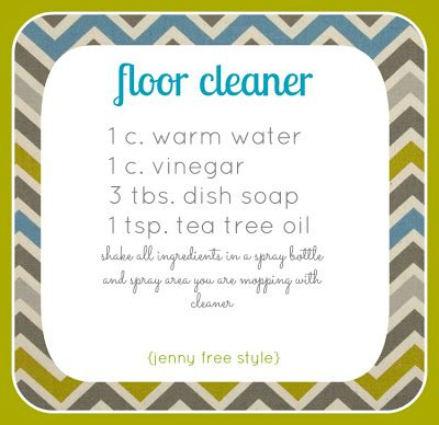 {Jenny Free Style}: DIY floor cleaner