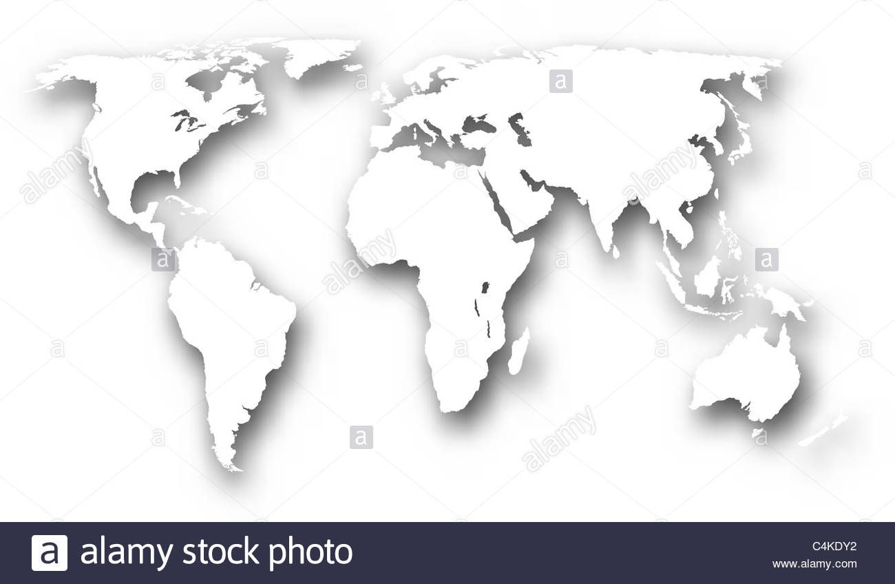 illustration-of-a-white-world-map-with-drop-shadow-C4KDY2.jpg (1300×848)