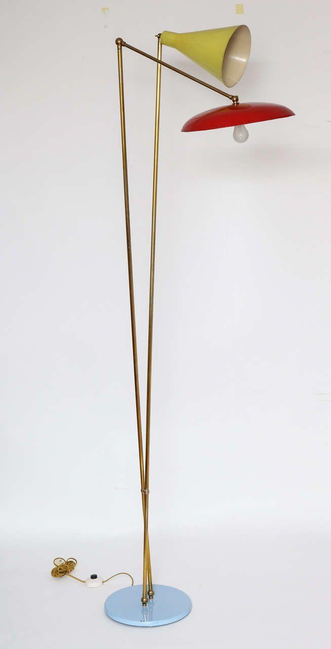 Stilnovo Italian Mid Century Modern Floor Lamp 1955 1stdibs