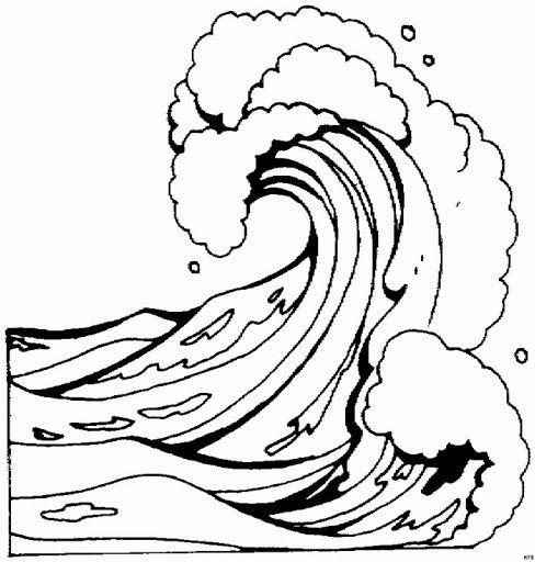 Dibujos Para Colorear De Tsunamis  Tsunami  Pinterest  Sketches
