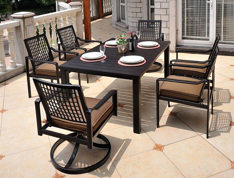 HYDE PARK Dining Collection by Hanamint · Iron Patio FurnitureOutdoor ... - HYDE PARK Dining Collection By Hanamint Cast Aluminum Outdoor