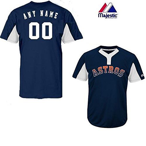 bc64c80c6 Navy White 2-Button Cool-Base Houston Astros Blank or CUSTOM Back ...
