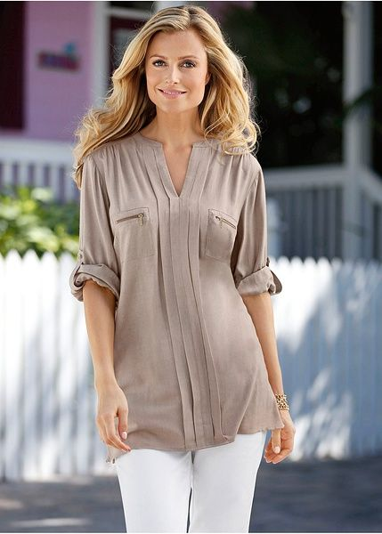Pleated blouse | Blouses & shirts | Womens Clothing