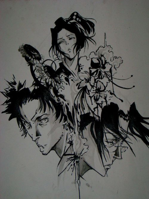 B Champloo Samurai Champloo Anime Canvas Samurai