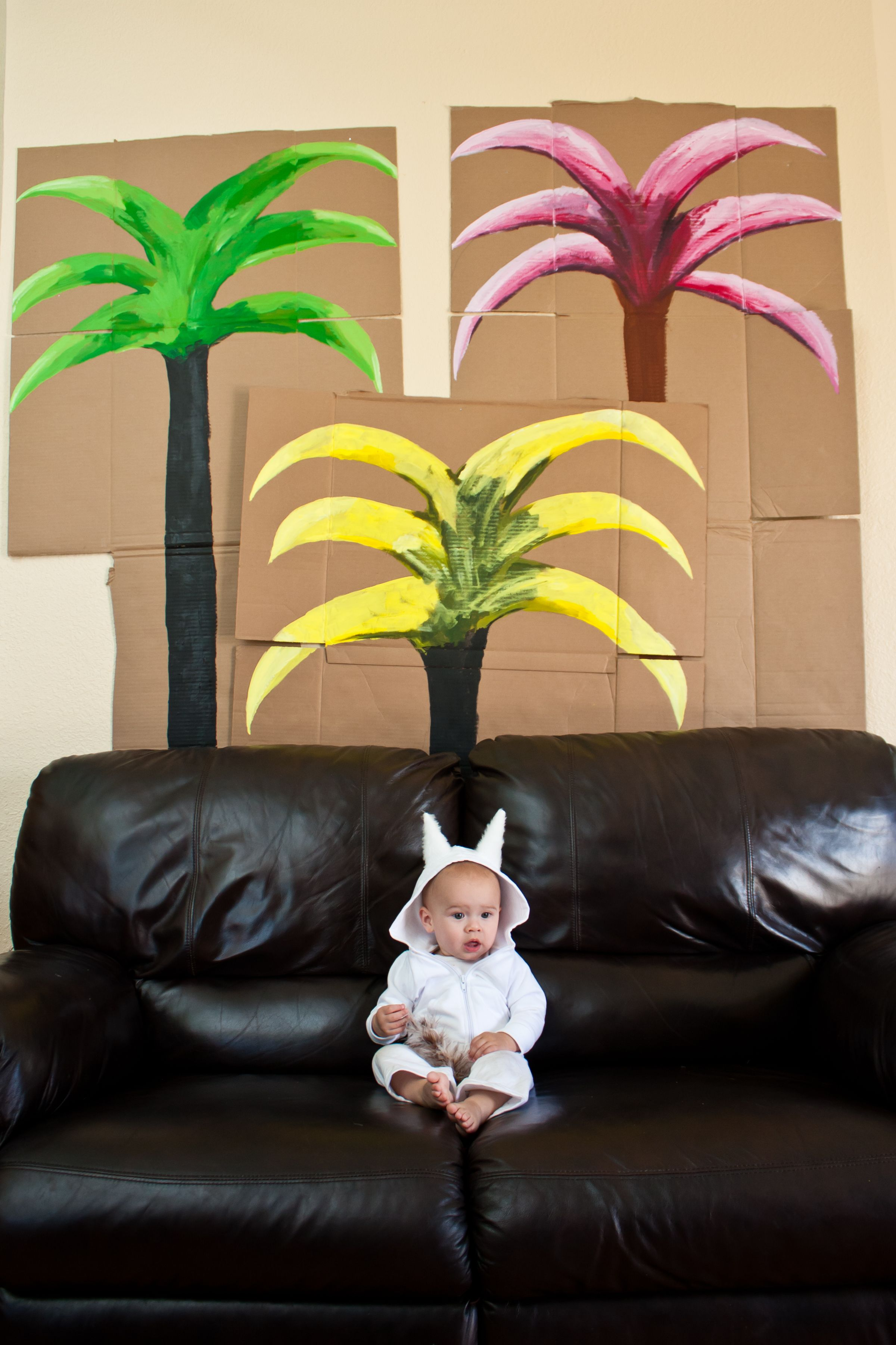 b8b7a857c My son s first birthday party. Where the Wild Things Are. The boxes are  opened up and trees painted on. The trees covered all the wall so it looked  like you ...