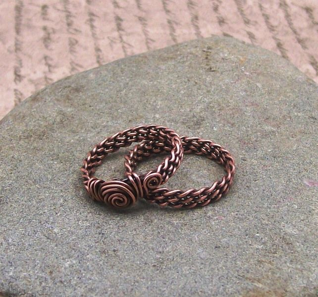 Braided Wire Rings | Craft