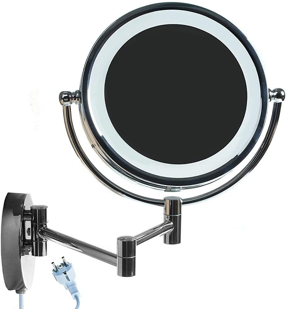 Himry Led Wandspiegel Kosmetikspiegel 85 Zoll Mit Eu Stecker 10x