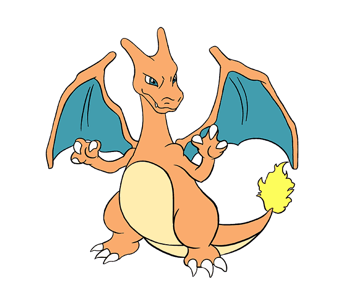How To Draw Charizard With Images Drawing Tutorial Dragon