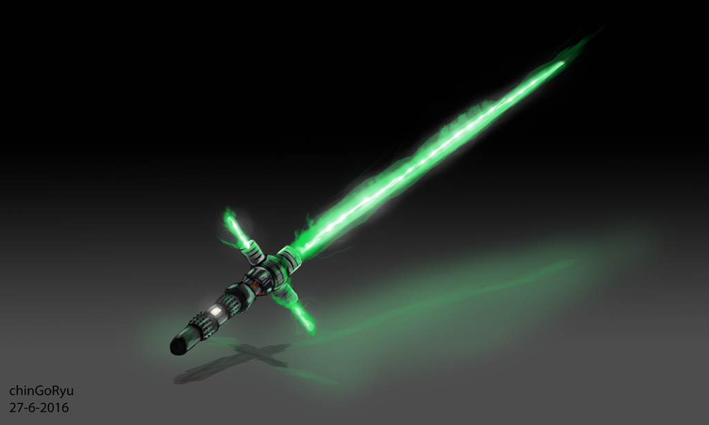 Green Tri Blade Lightsaber By Chingoryu Star Wars Images Star Wars Characters Pictures Star Wars Pictures