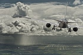 Stormy approach - stock photo