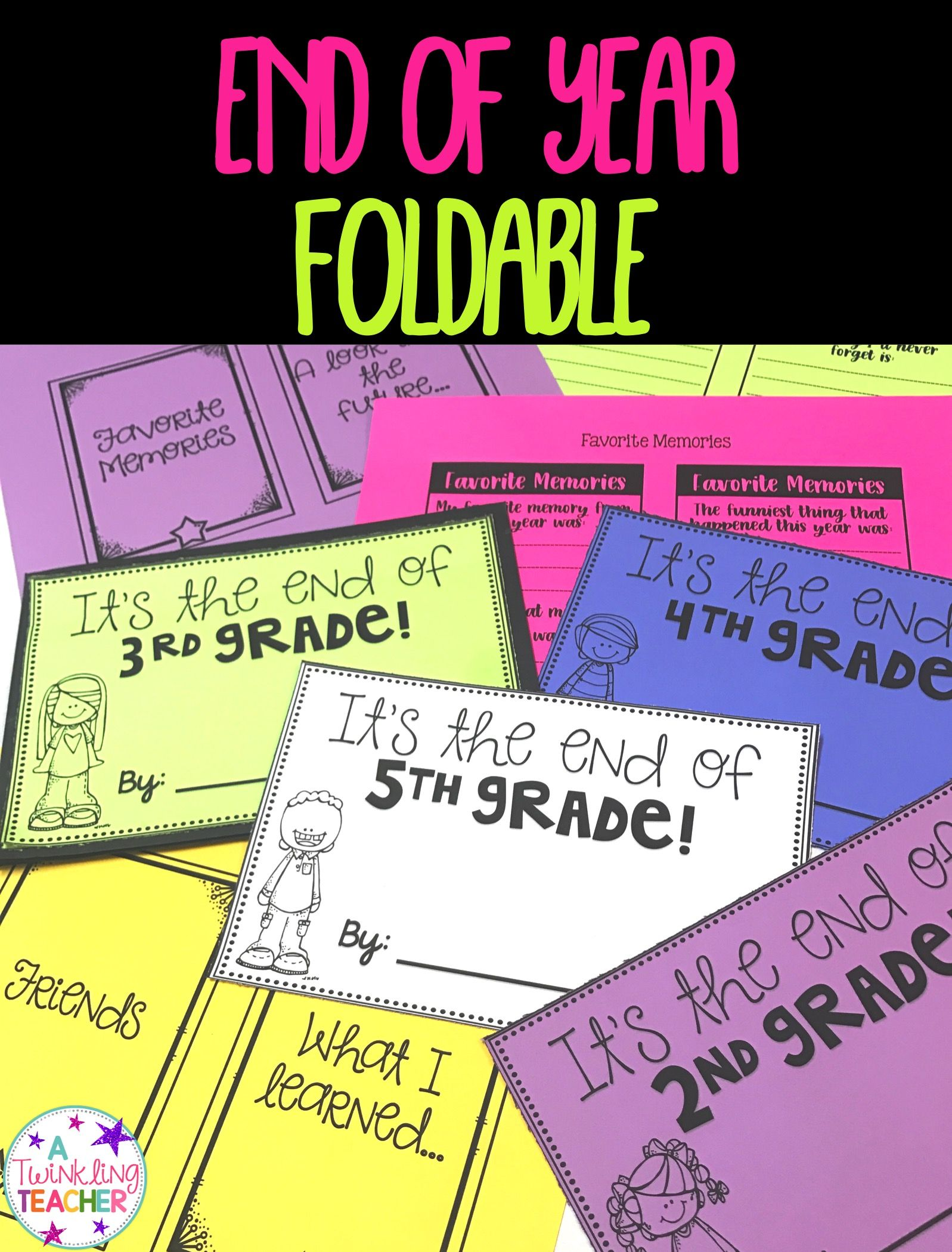 End Of The Year Foldable