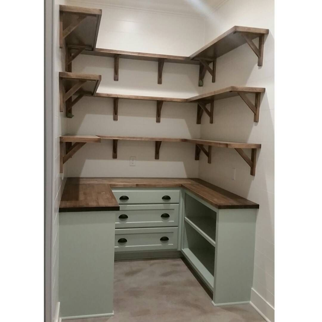 kitchen shelving ideas living spaces tables dream pantry is complete walls shiplap and painted