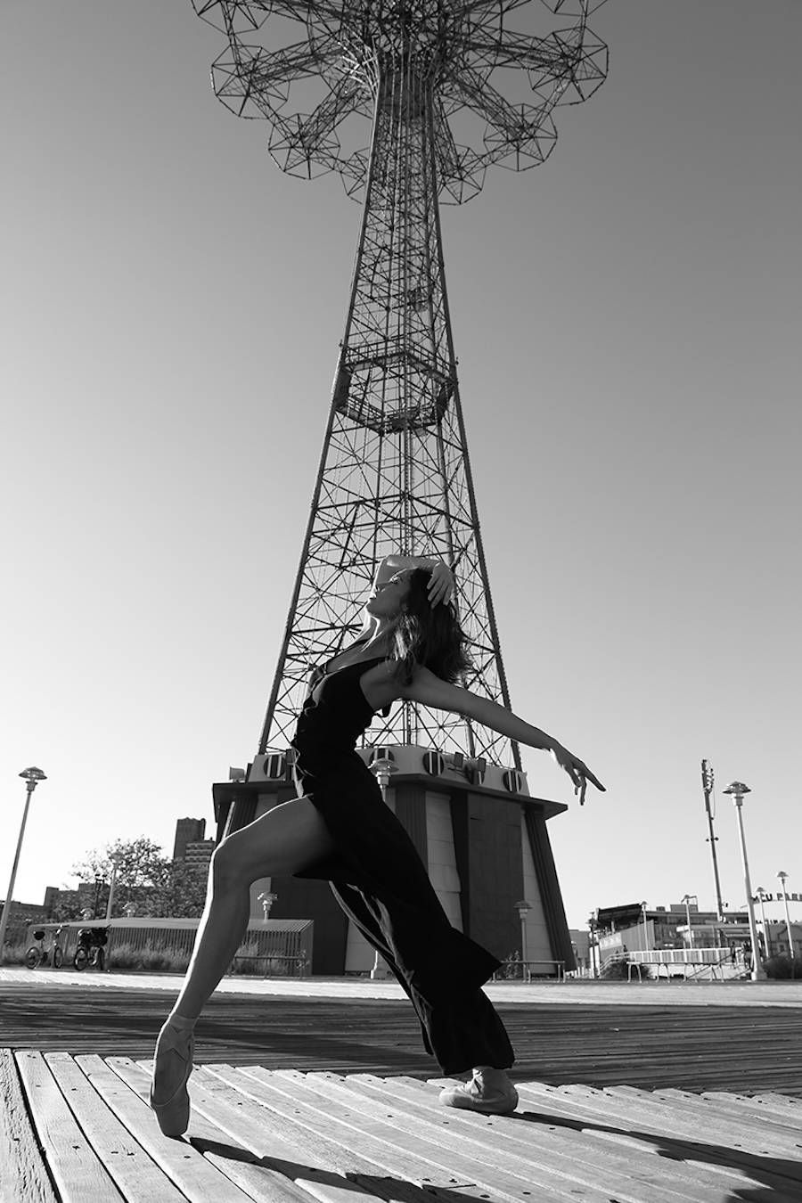 Black and white dancers portraits in new york city dancer newyork coneyisland usa