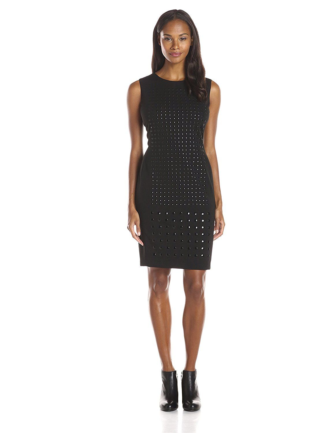ed98f385 Calvin Klein Women's Sheath with Stud Layout >>> Remarkable product  available now. : Trendy plus size clothing