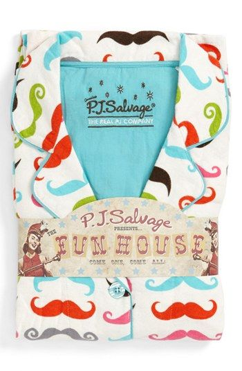 PJ Salvage Print Flannel Pajamas available at #Nordstrom http://www.pjsalvage.com/inc/sdetail/16780/16767 too