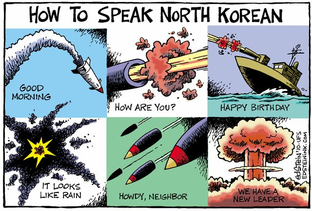 Image result for obama north korea political cartoons