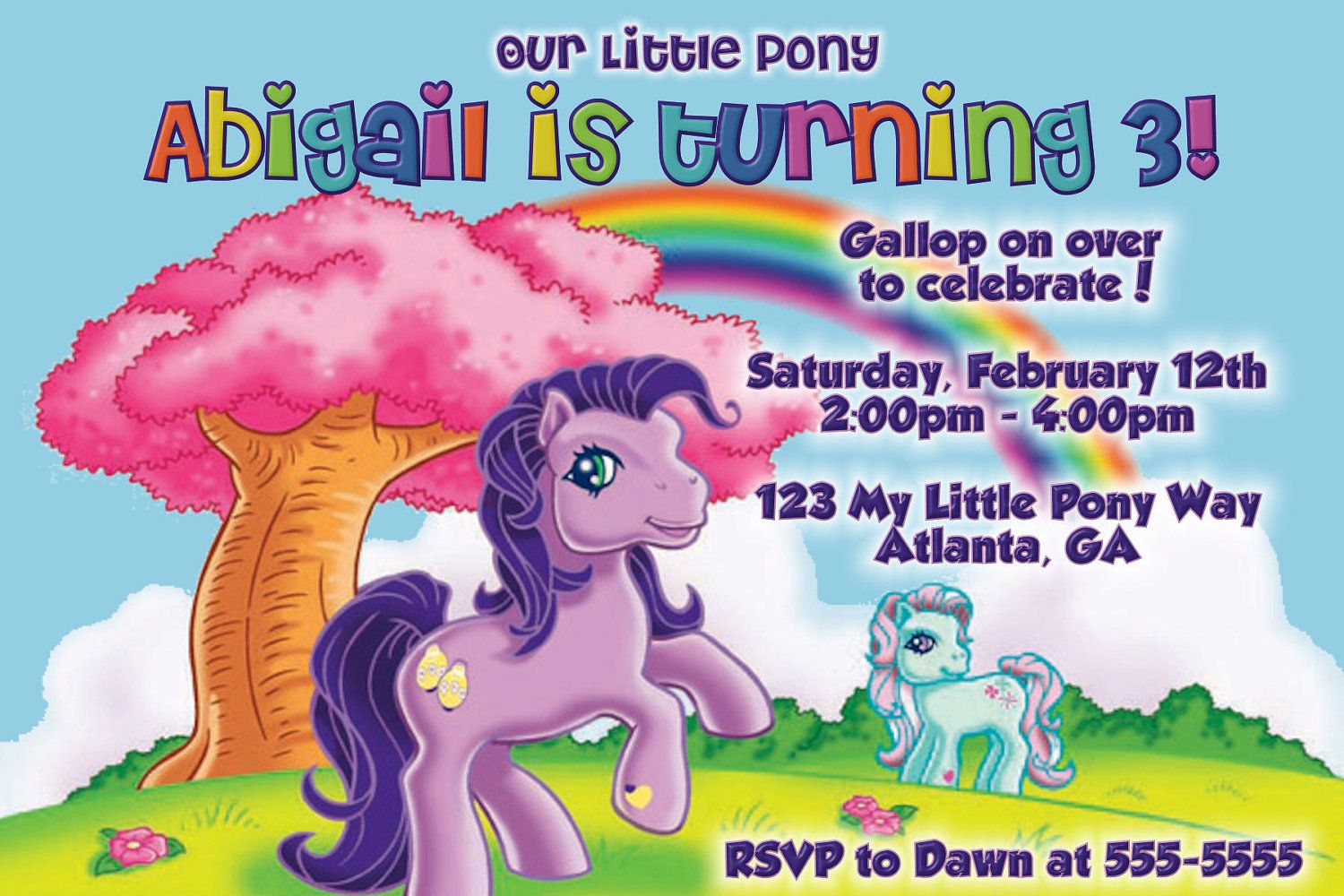 Download Now My Little Pony Birthday Invitations Ideas For Girl