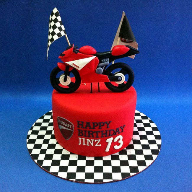 Fondant 3d Ducati Motorcycle With Images Motorcycle Birthday