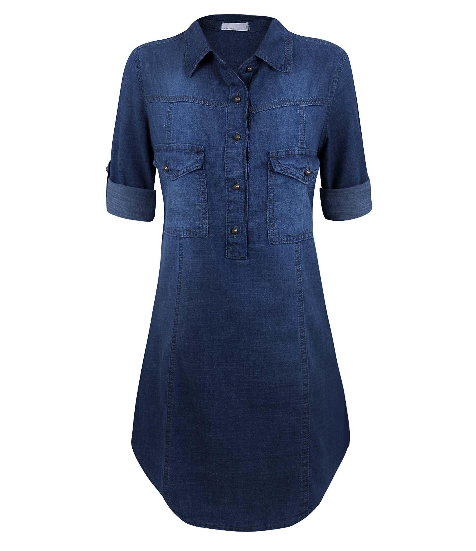 9f097a8271 Camisa Feminina Alongada em Jeans - Lojas Renner