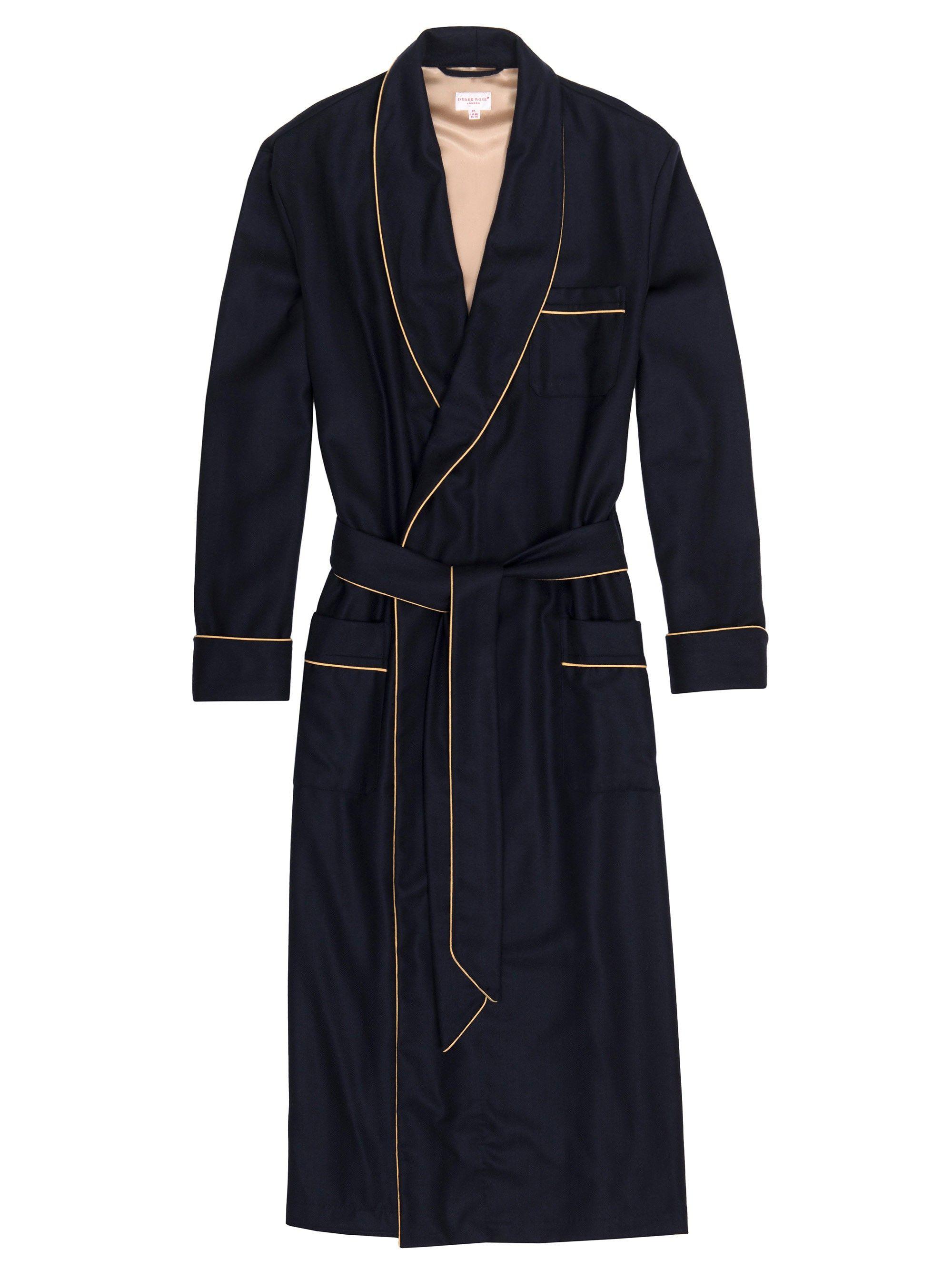 2ba8c48198 Men s Cashmere Dressing Gown - Duke Navy - Robes - Men s - Nightwear ...