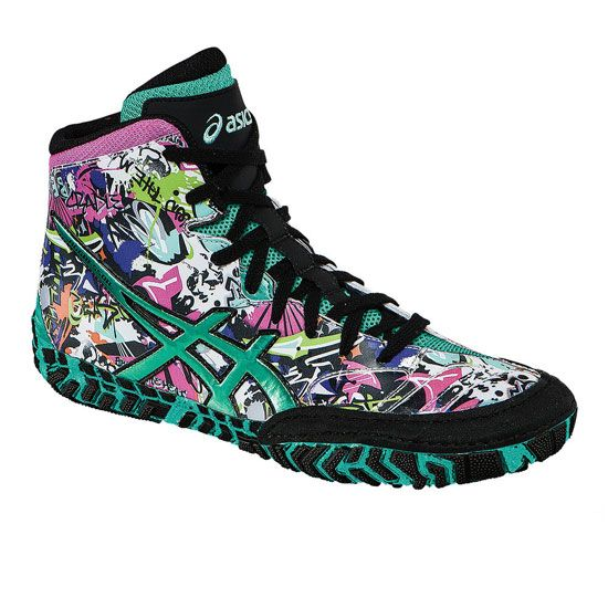 ASICS Aggressor 2 LE Graffiti Wrestling Shoe | Dustin | Pinterest ...