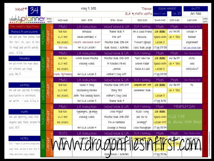 Digital weekly teacher planner. Keep all of your weekly plans in one file. Type in your basics once then add your weekly details on a sheet for each week. Lesson plan book can be printed and/or saved on your computer. 9 different color schemes to choose from - or create your own. Use the font of your choice. K-12 versions. #Teacher planner