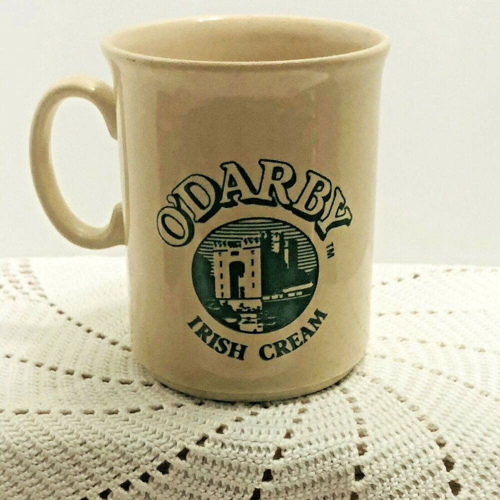 O'Darby Irish Cream Coffee Mug Beige Green England
