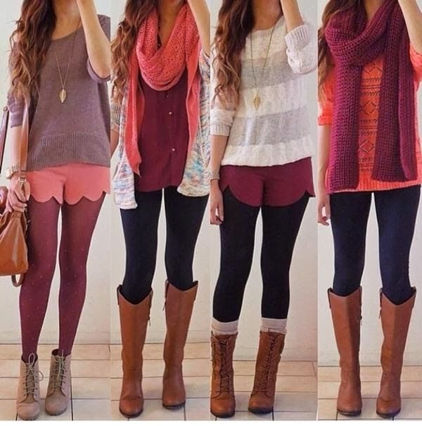 Cute Fall Outfit Styles With Scarves