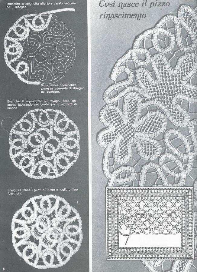 Renaissance Lace With Crochet Tapes   Bordado