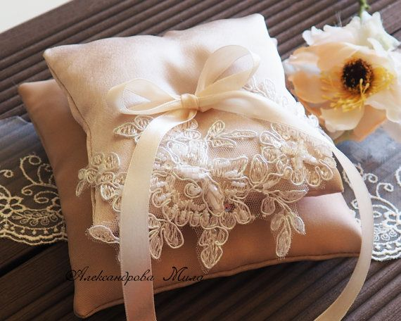 Wedding Ring Pillow Wedding Pillow Lace Ring by Studiowedding