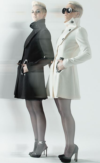 Coats (cashmere, black or white) by Stigma NYC