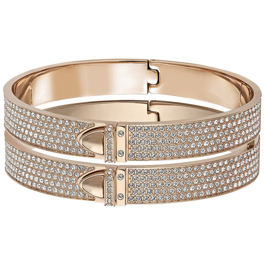 Distinct Wide Bracelet-jonc Swarovski, Bracelet Swarovski - Iziva ...