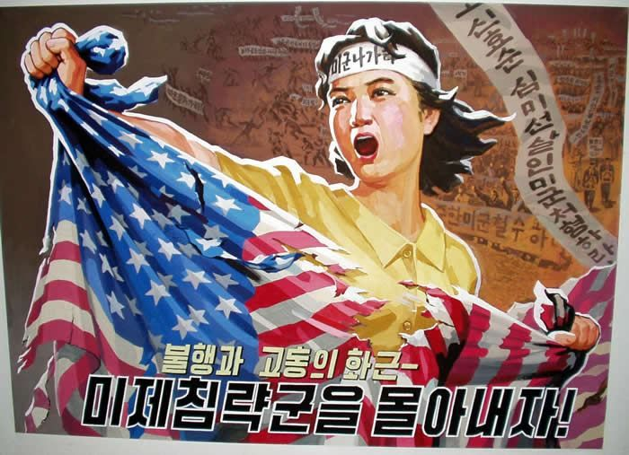Travels With Scott Propaganda Art North Korea American Propaganda