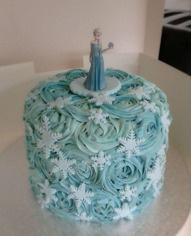 Frozen cake idea All kinds of ideas for a Frozen birthday party