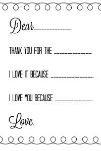 teach your kids to send thank you s after christmas free printables