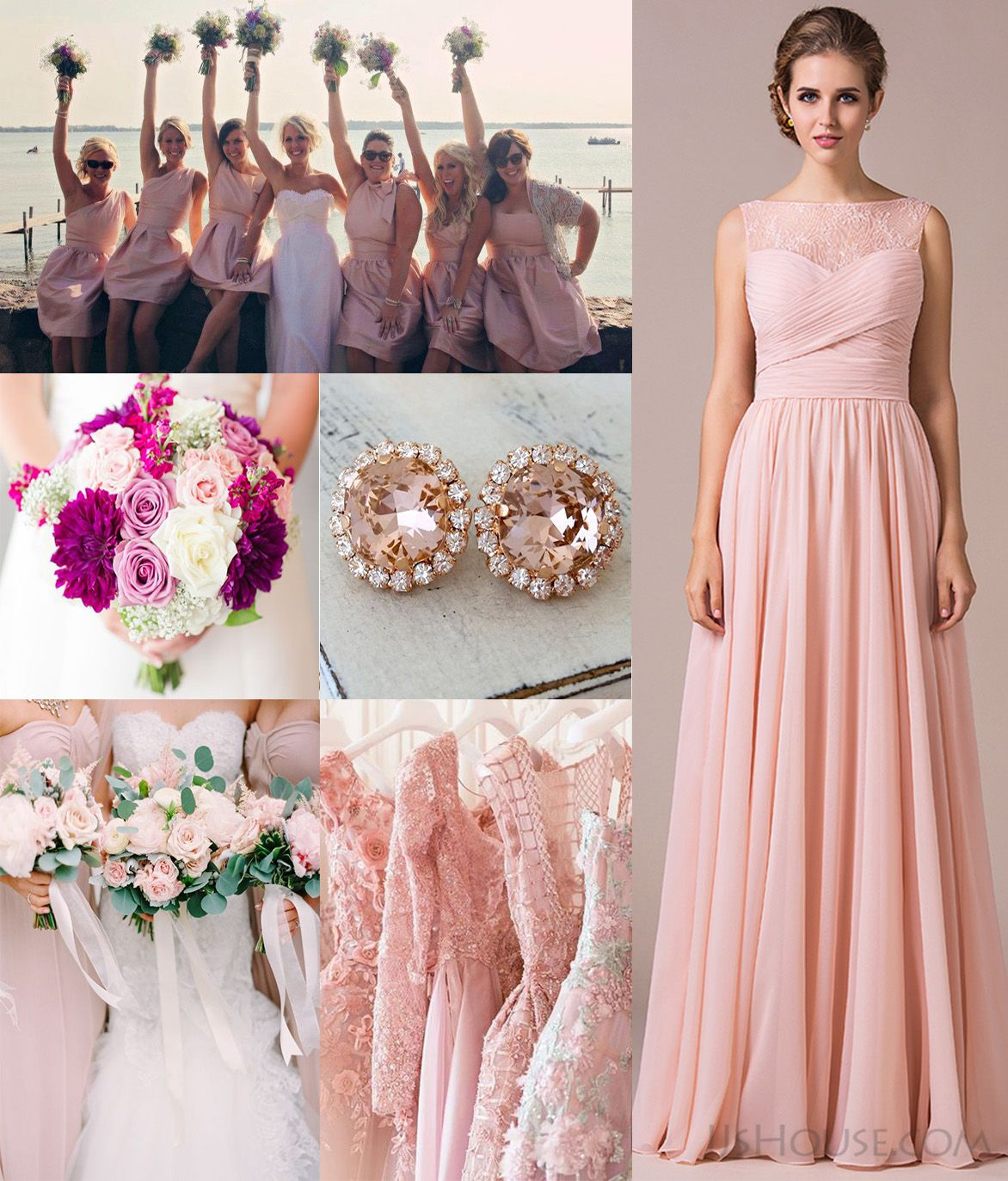 Blushing pink bridesmaid dressevery girl has a pink dream blushing pink bridesmaid dressevery girl has a pink dream jjshouse jjshousebridesmaiddress ombrellifo Images