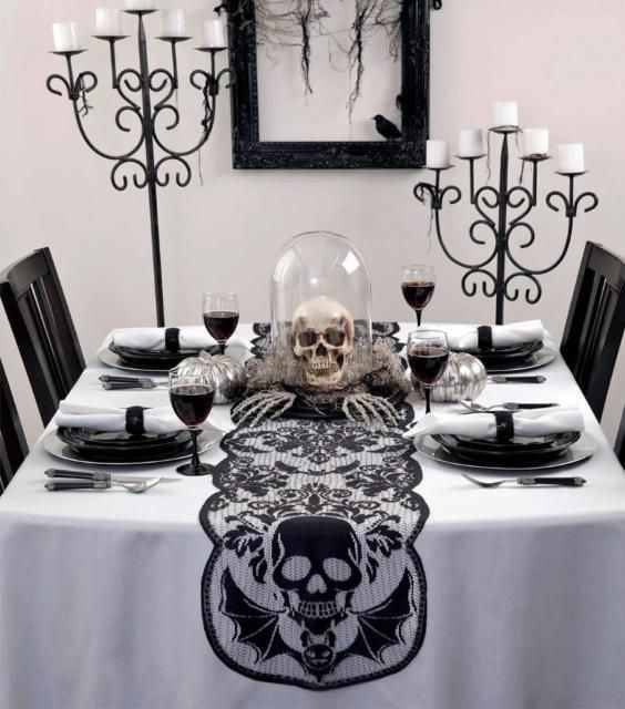 Decorate your home this halloween in black and white It will give - how to decorate home for halloween