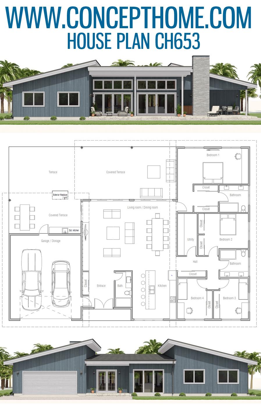 Architectural Design Ch653 House Plans Dream House Plans Architecture