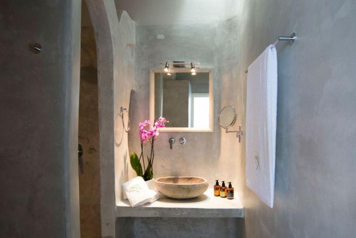 ▷ 1001+ photos inspirantes pour une décoration grecque - salle de bain gris et bleu