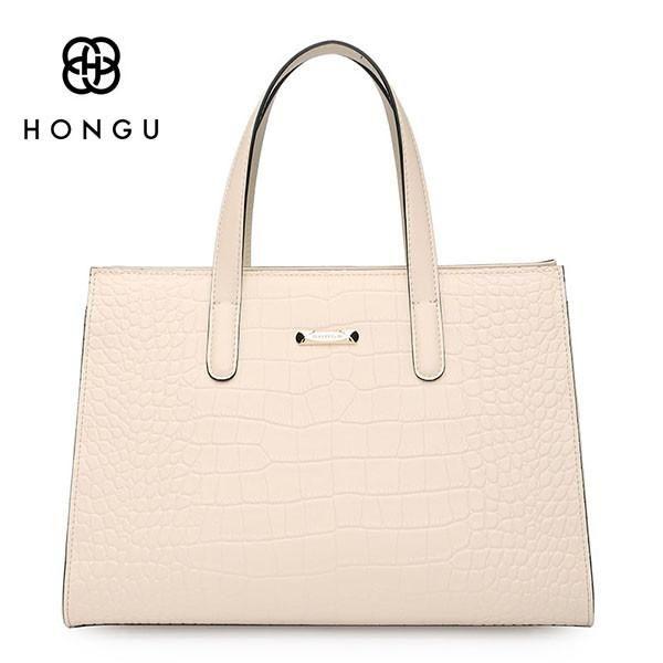 6c70d44694 HONGU Luxury Europe Genuine Cow Leather Women Handbags Fashion Crocodile  Female Messenger Crossbody Shoulder Bags Chain